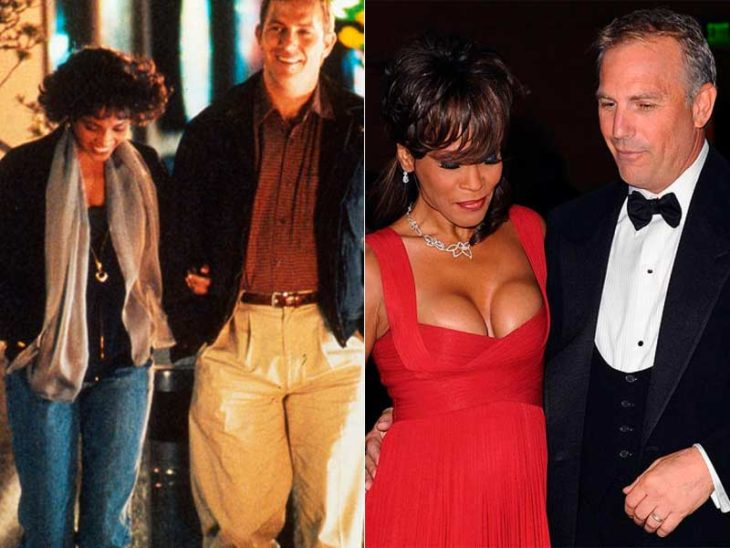 Kevin Costner y Whitney Houston