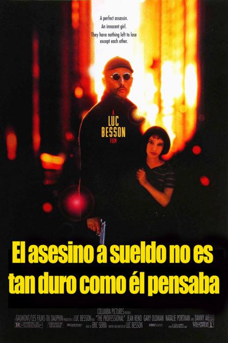 póster de la película léon o El asesino a sueldo no es tan duro como él pensaba