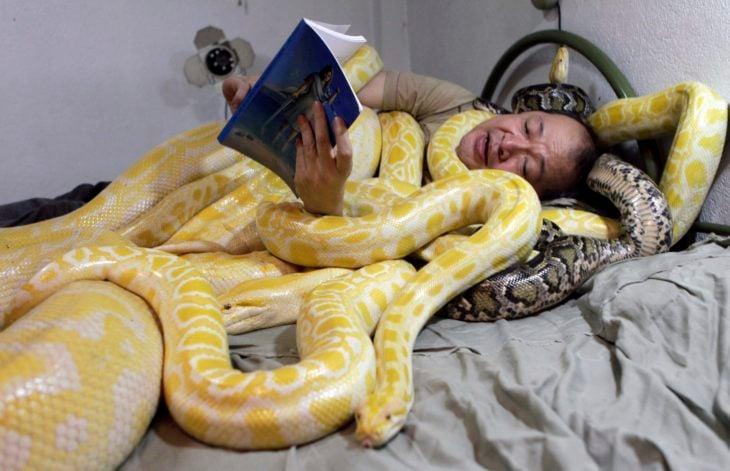 tengo una serpiente en mi cama