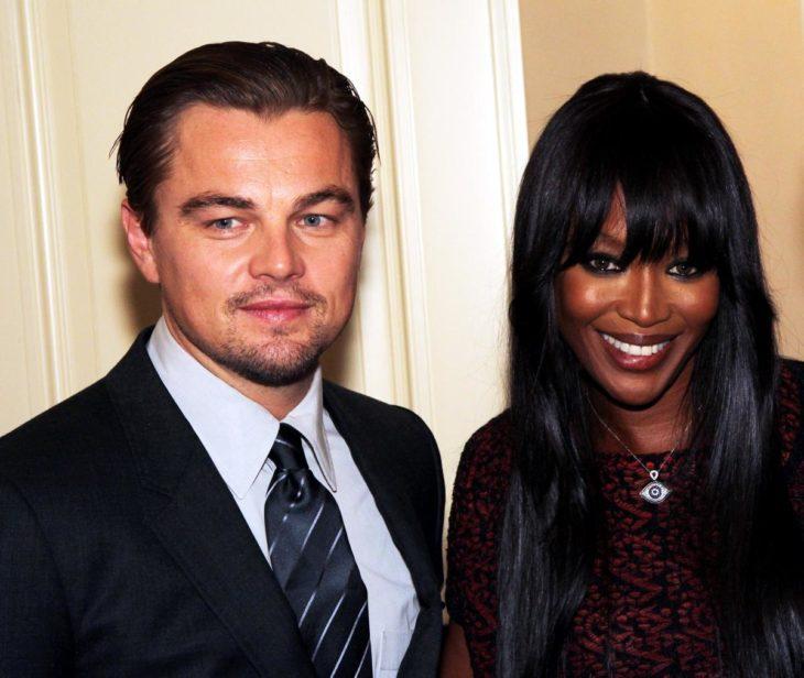 Leonardo DiCaprio y Naomi Campbell