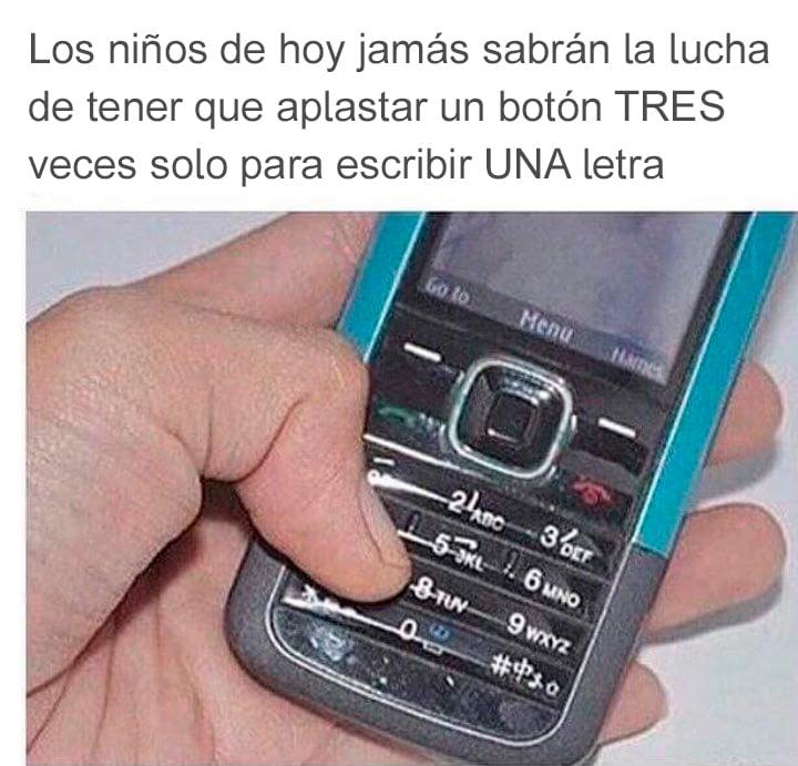 celular mensajes teclas tres veces