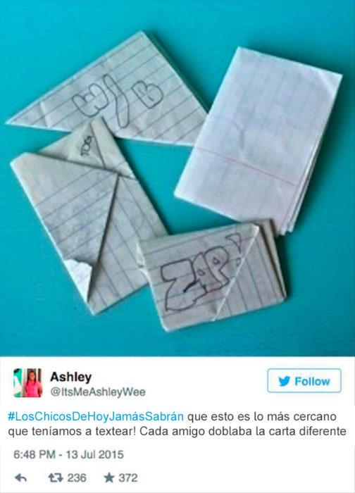 cartas en los 90's