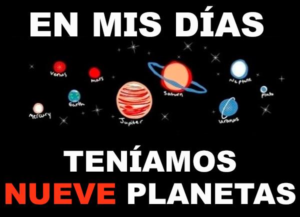 9 planetas en los 90's