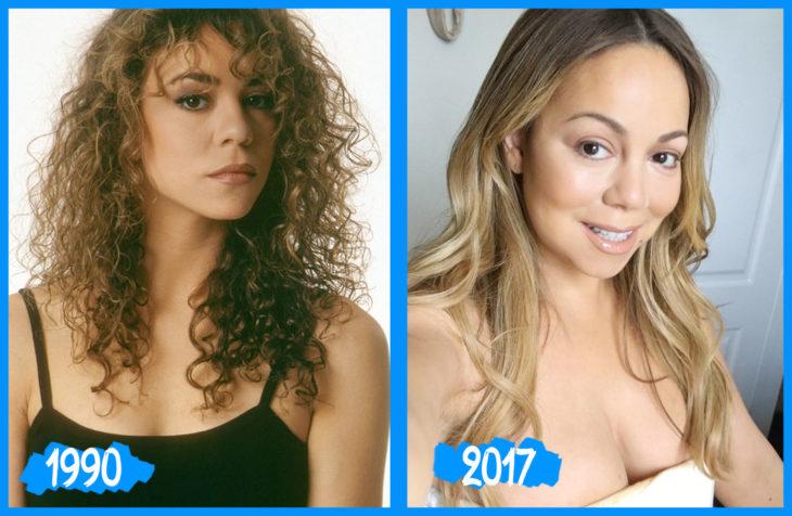 Mariah Carey antes e depois