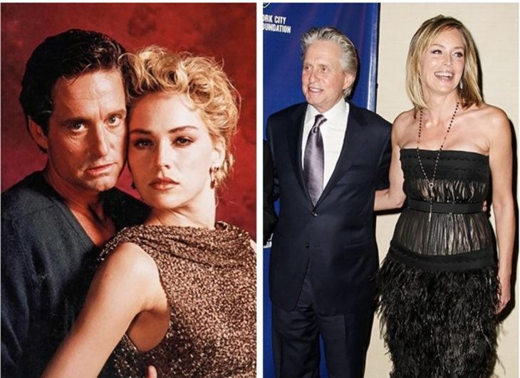 Michael Douglas y Sharon Stone
