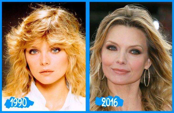 Michelle Pfeiffer antes e depois