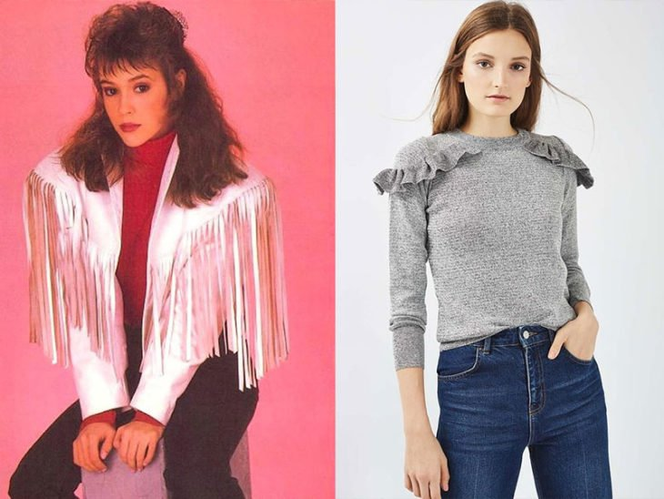 hombreras blusa moda de los 80s