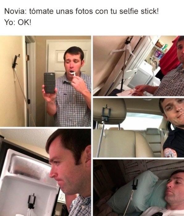 fotos con selfie stick