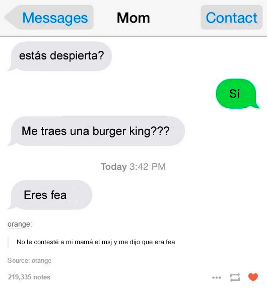 mama quiere burger king