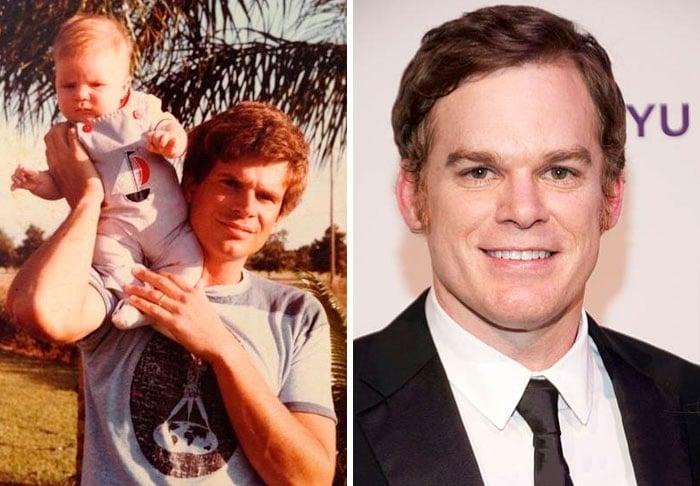 comparación de un papá con actor de serie de televisión