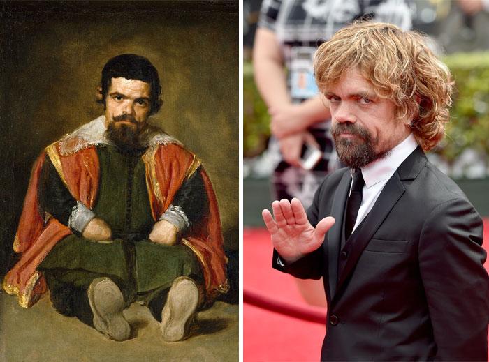 comparación de actor con un cuadro