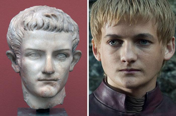 cabeza escultura emperador romano parecido