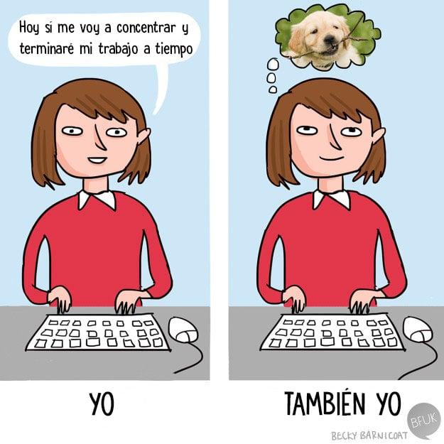 perritos trabajo ilustración
