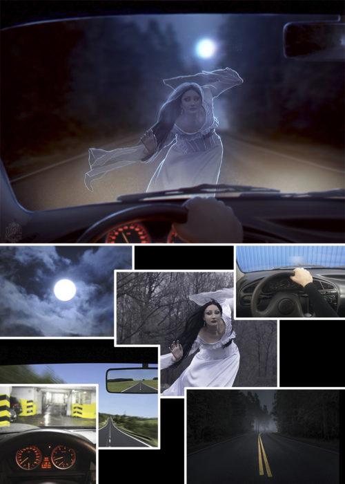 fantasma volante Photoshop qué hay detrás edición