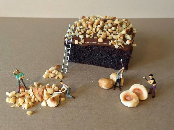 postre miniatura italiano brownie