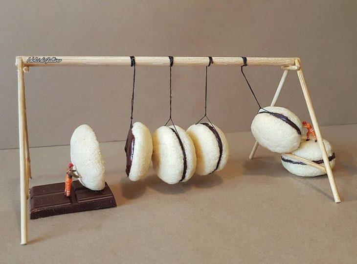 macarrones postre miniatura italiano