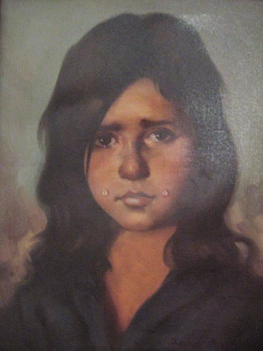 niña bruja pinturas que dan miedo
