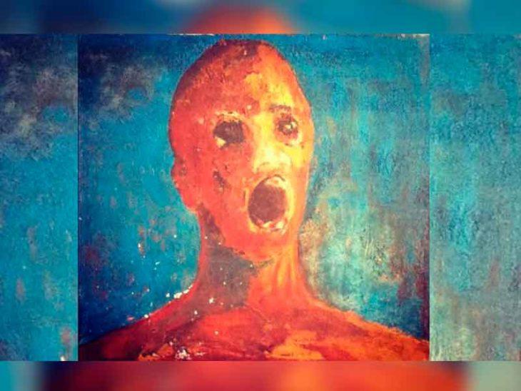 hombre angustiado pinturas que dan miedo