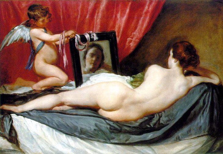 Venus espejo pinturas que dan miedo