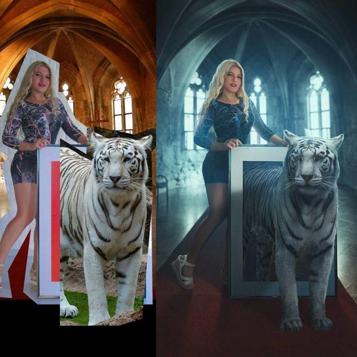Artista ruso PS - tigre blanco