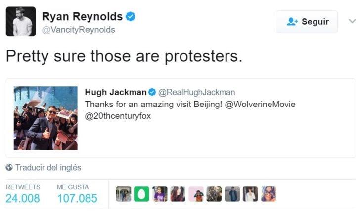 ryan reynold tuit estoy seguro que son rotestantes