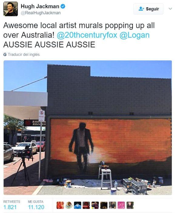 hugh jackman tuit mural