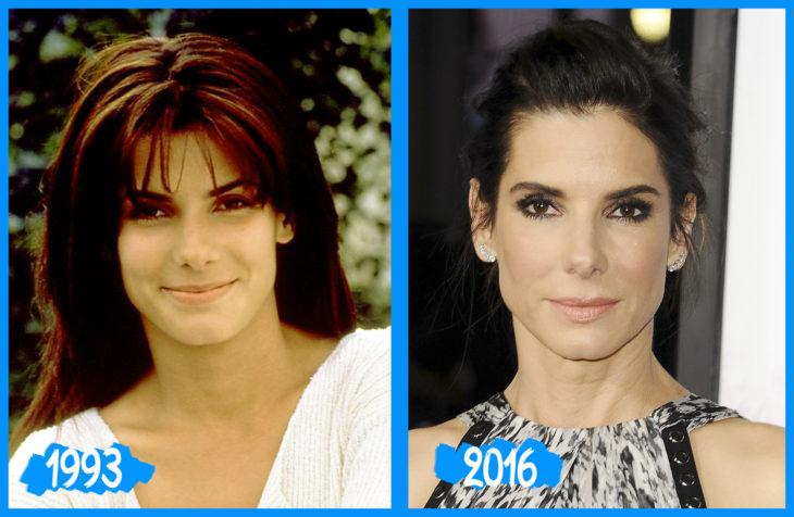 Sandra Bullock antes e depois