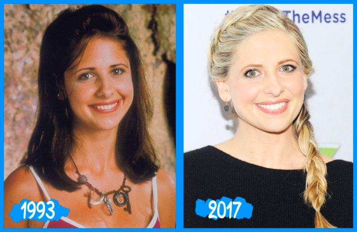 Sarah Michelle Gellar antes e depois