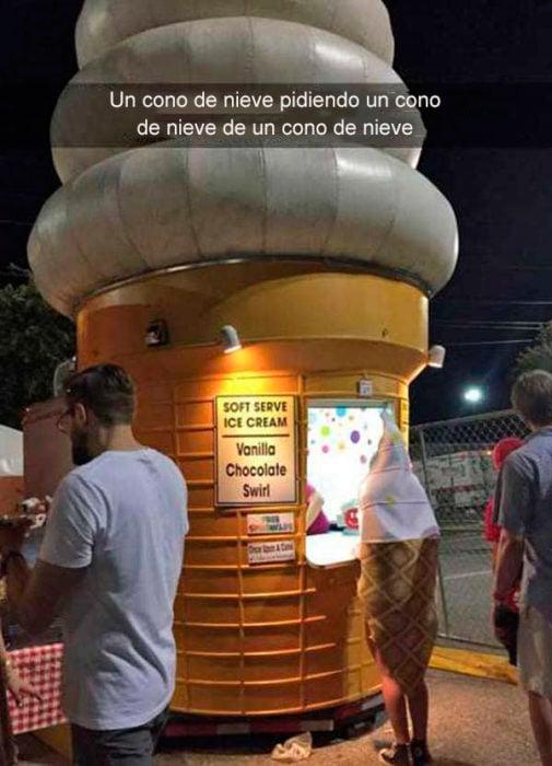 Snapchats divertidos - un cono pidiendo un cono