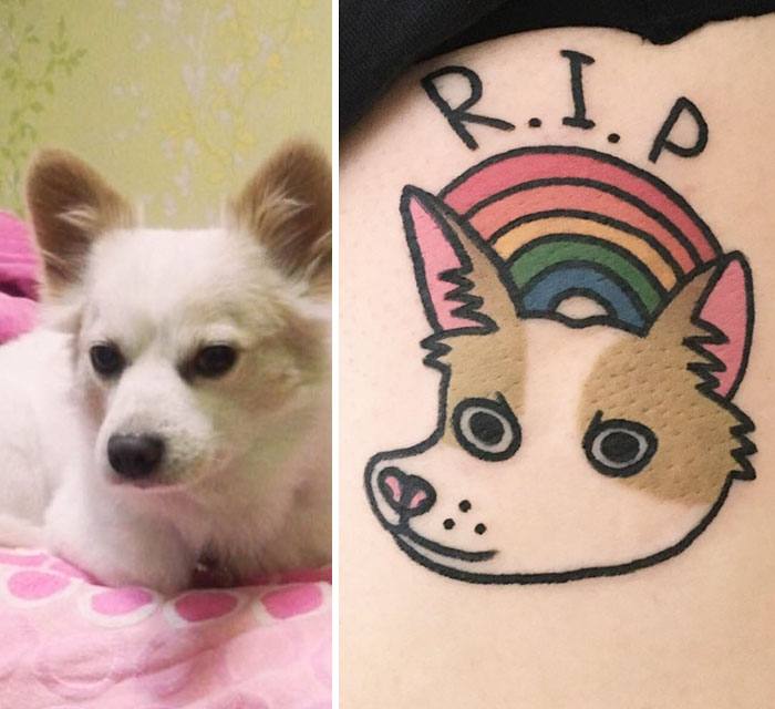 perro tatuaje rip