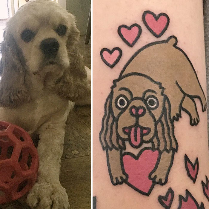 perro cocker tatuaje