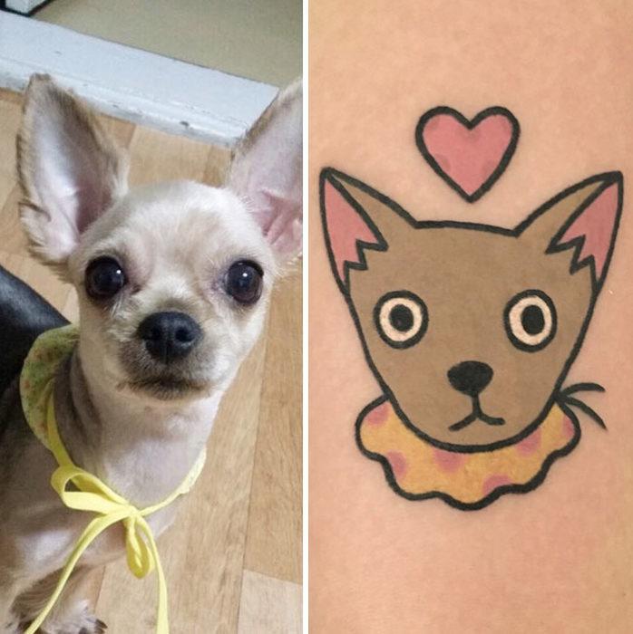 perro chihuahua tatuajes