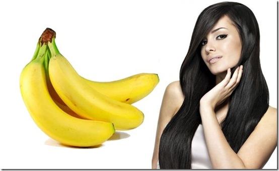 plátano para el cabello
