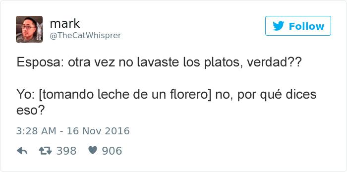 tuits esposos - no lavaste los platos