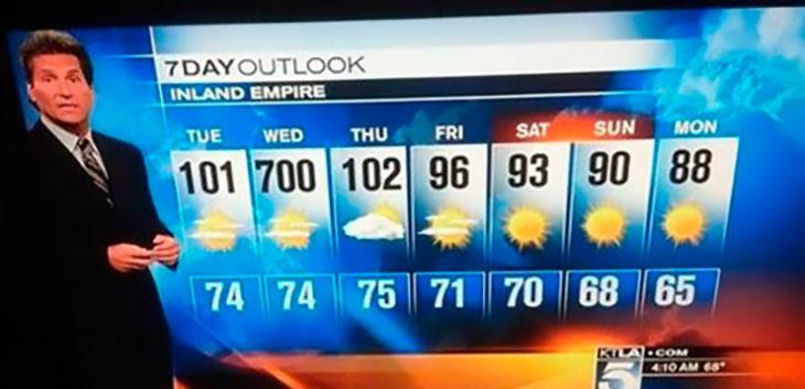 clima la semana