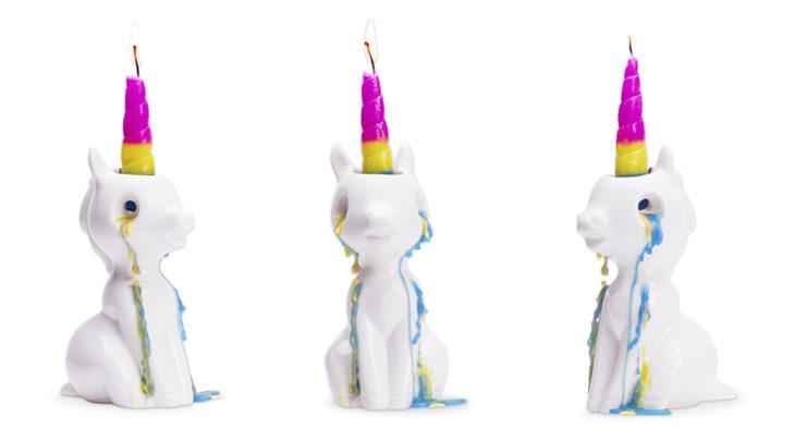 velas de unicornio que lloran