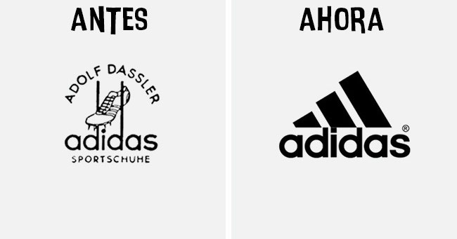 Cómo han cambiado los logotipos más famosos antes y después adidas
