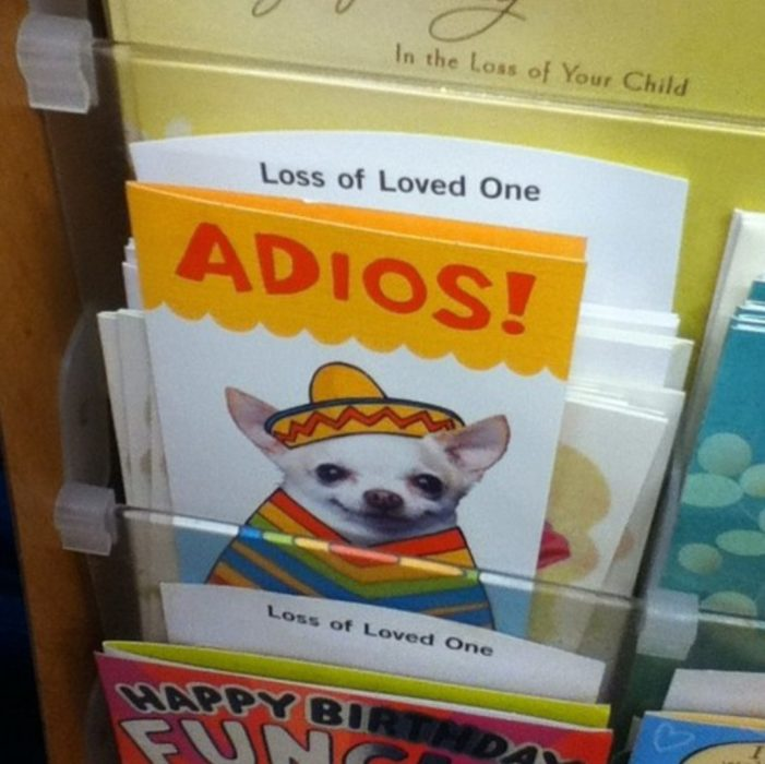 tarjeta de adiós de un chihuahua