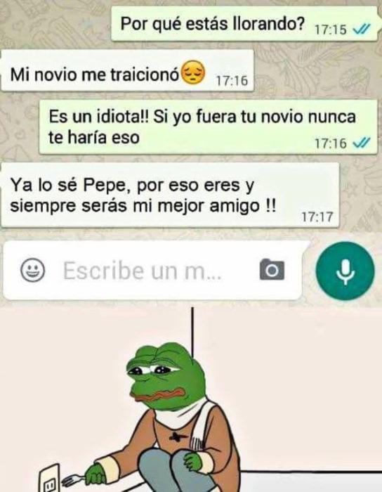 conversación whatsapp friendozne