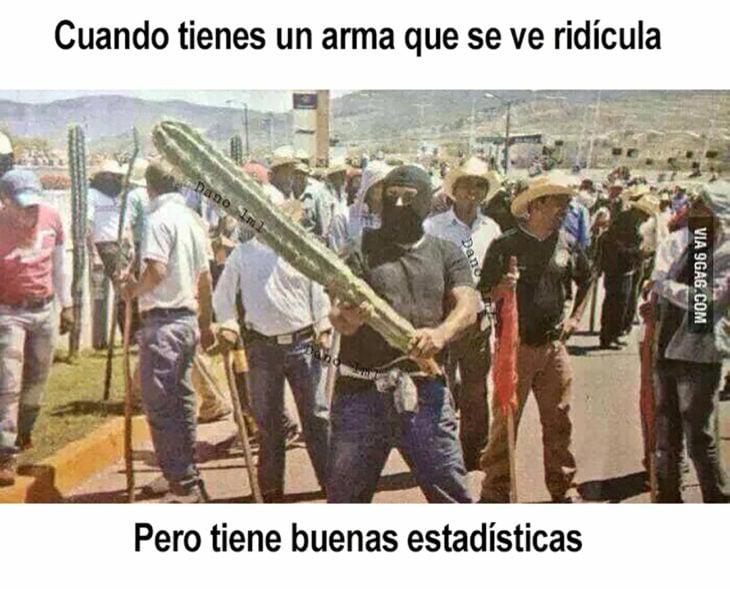 meme de hombre sosteniendo un cactus