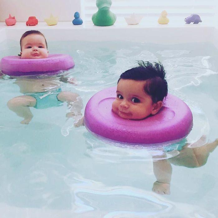 flotadores en la cabeza bebés