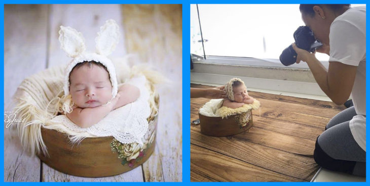 fotos de bebés y detrás de cámaras