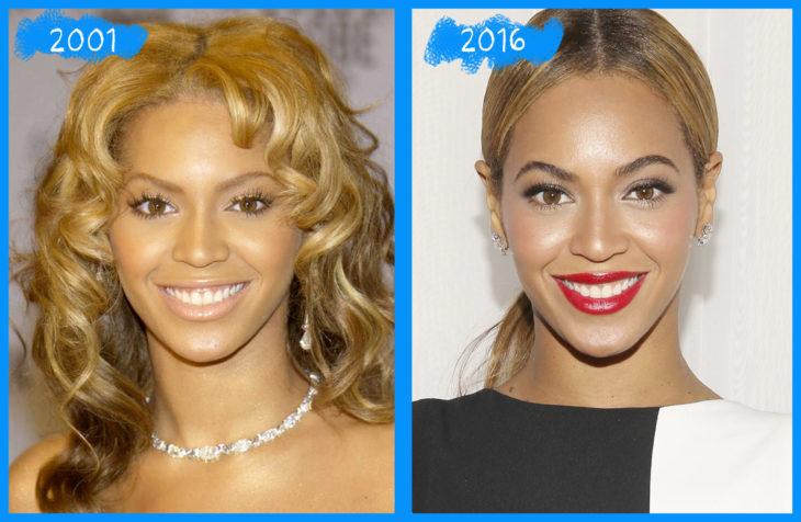 beyonce 2002 y 2016