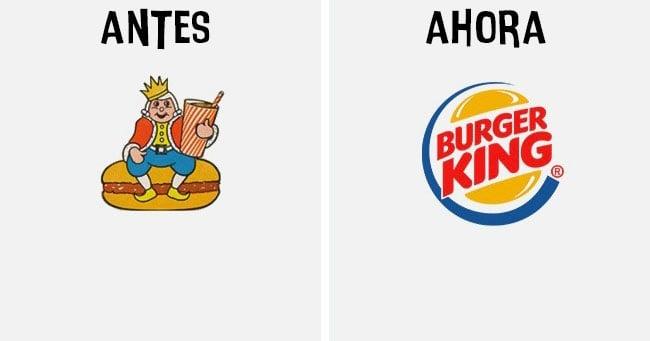 burguer king Cómo han cambiado los logotipos más famosos antes y después