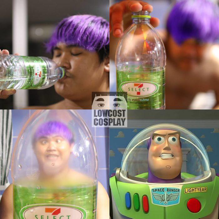 disfraz de bajo presupuesto de Buzz Lightyear