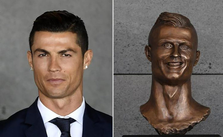 christiano ronaldo y su estatua