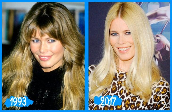 Claudia Schiffer antes e depois