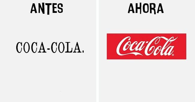coca cola Cómo han cambiado los logotipos más famosos antes y después