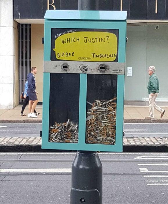 contenedor de colillas de cigarro