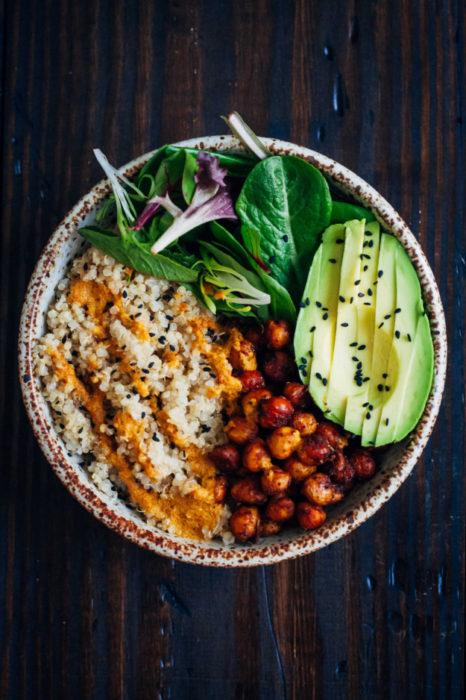 bowl aguacate vegano